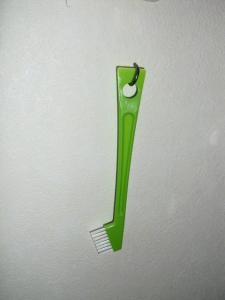 小さなお掃除ブラシ